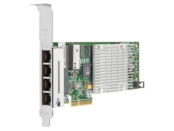 HPE 538696-B21 1Gbps Quad Port PCI Express -2.0 x4 1000Base-T - RJ-45 Gigabit Ethernet Wired Network Adapter for ProLiant Generation6 and Generation7 Servers