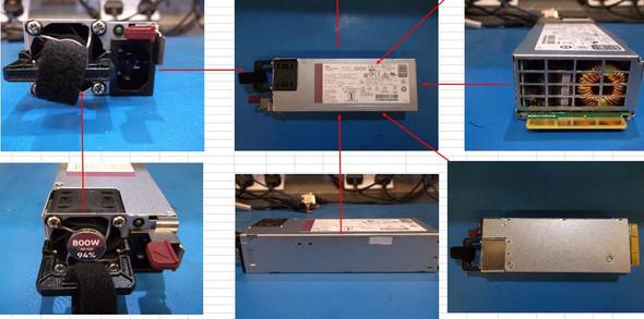 HPE 865414-B21 800Watt Flex Slot Platinum Hot Plug Low Halogen Power Supply Kit for ProLiant Gen9 Gen10 Servers (Brand New with 3 Years Warranty)