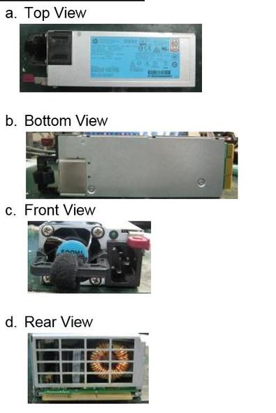 HPE 720478-B21 500Watt Flex Slot Platinum Hot Plug Power Supply Kit for ProLiant Gen9 Servers (New Bulk Pack with 1 Year Warranty)