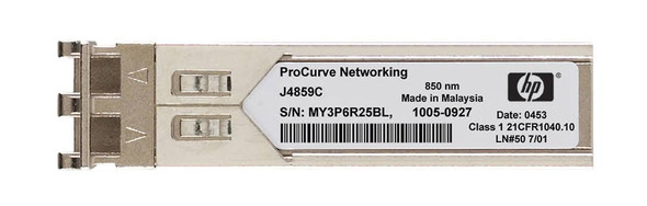 HPE ProCurve J4859C X121 1Gbps SFP LC- 1000Base-LX Full Duplex Mini-GBIC Plug-in module Gigabit Ethernet Wired Transceiver Module