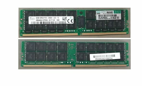 HPE 850882-001 64GB Quad Rank x4 DDR4 2666MHz CL19 ECC Registered PC4-21300 LRDIMM 288-Pin DDR4 SDRAM SmartMemory for ProLiant Gen10 Servers (Brand New with 3 Years Warranty)