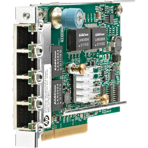 HPE 629135-B22 1GB Quad Port 4 x Ethernet 1000 - RJ-45 PCI Express - 2.0 331FLR Ethernet Network Adapter