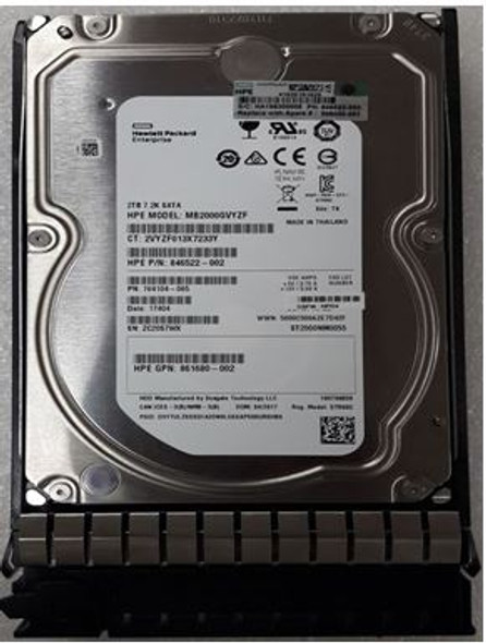 HPE MB2000ECWCR 2TB 7200RPM 3.5inch LFF SATA-3Gbps Midline Hard Drive for ProLiant Gen1 to Gen7 Servers (New Bulk Pack with 1 Year Warranty)