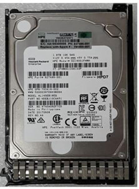 HPE 791034-B21 1.8TB 10000RPM 2.5inch SFF 512e Dual Port SAS-12Gbps SC Enterprise Hard Drive for ProLaint Gen8 Gen9 Gen10 Servers (Brand New with 3 Years Warranty)