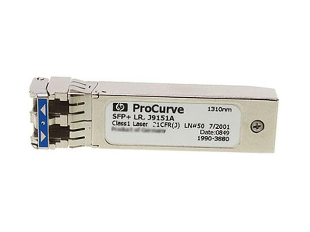 HPE ProCurve J9151A X132 10Gbps SFP+ LC 10GBase-LR Plug-in Module Gigabit Ethernet Transceiver Module (New Bulk Pack with 1 Year Warranty)