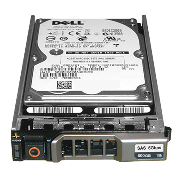 Dell WGK61 600GB 15000RPM 3.5inch Large form factor(LFF) 16MB Buffer SAS-6Gbps Hot-Swap Hard Drive for PowerEdge and PowerVault Servers