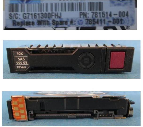 HPE 785069-B21 900GB 10000RPM 2.5inch SFF Dual Port 512n SAS-12Gbps Smart Carrier Enterprise Hard Drive for ProLiant Gen8 Gen9 Gen10 Servers (Brand New with 3 Years Warranty)