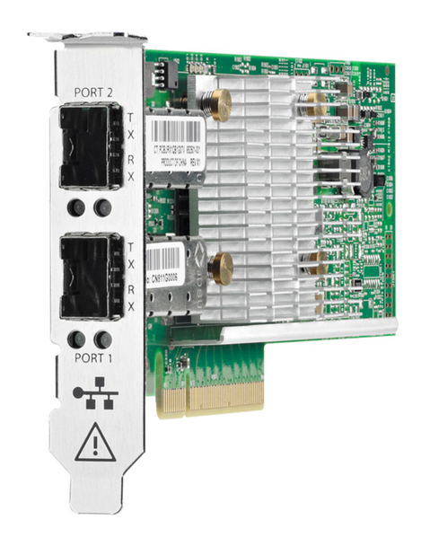 HPE 652503-B21 10Gb Ethernet Dual-Port PCI Express 2.0 x8 530SFP+ Network Adapter with both Brackets for ProLiant Gen7 Gen8 Gen9 Gen10 & Apollo Gen9 Servers (New Bulk with 1 Year Warranty)