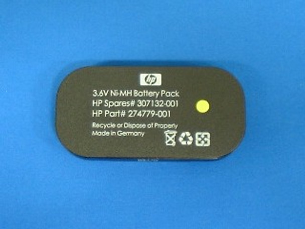 HPE 307132-001 3.6Volt 500mAh NiMH Battery (Battery Only) for BBWC Option on Smart Array Controllers 642/642 (Grade A with 30 Days Warranty)