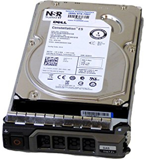 Dell 342-2100 2TB 7200RPM 3.5inch LFF SAS-6Gbps Hot-Swap Low Profile Internal Hard Drive for PowerEdge and PowerVault Servers (Brand New with 3 Years Warranty)