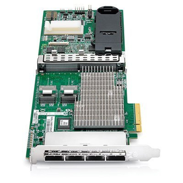HPE 487204-B21 Smart Array P812/1Gb FBWC Dual Ports Internal/Quad Ports External PCIe x8 SAS/SATA Controller for ProLiant Gen6 Gen7 Servers (New Bulk Pack with 1 Year Warranty)