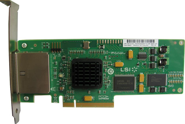 HPE 488765-B21 SC08e 300MBps PCI Express Dual Port SATA-SAS Storage Controller-Plug-in Card- Low Profile Host Bus Adapter for ProLiant Server