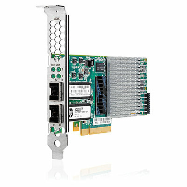 HPE 614203-B21 10Gb Dual Port PCI Express 2.0 x8 Full Duplex Capability Gigabit Ethernet Network Adapter for ProLiant Gen8 Gen9 Server