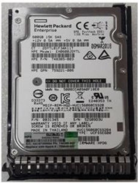 HPE 759221-006 600GB 15000RPM 2.5inch SFF SAS-12Gbps Smart Carrier Hot-Swap Enterprise Hard Drive for ProLiant Gen8 Gen9 Gen10 Servers (Brand New with 3 Years Warranty)