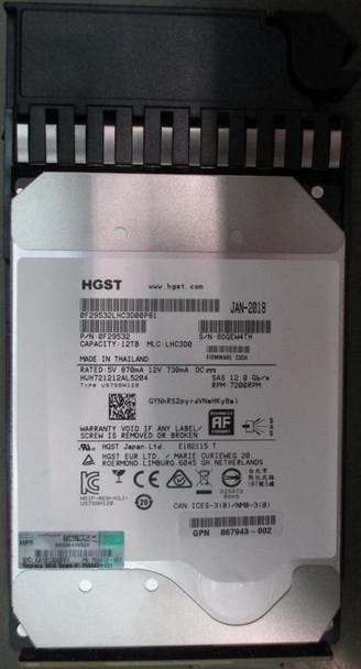 HPE Helium P00442-001 12TB 7200RPM 3.5inch LFF SAS-12Gbps Midline Hard Drive for MSA 1040/2040 SAN Storage (Brand New with 3 Years Warranty)