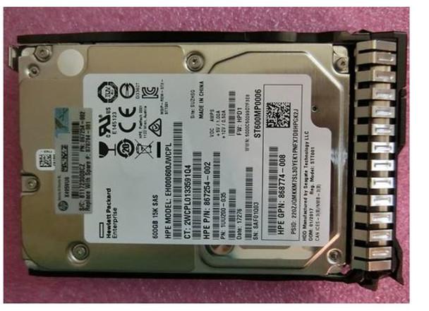 HPE 870757-B21 600GB 15000RPM 2.5inch SFF Digitally Signed Firmware 512n SAS-12Gbps SC Enterprise Hard Drive for ProLiant Gen8 Gen9 Gen10 Servers (Brand New with 3 Years Warranty)