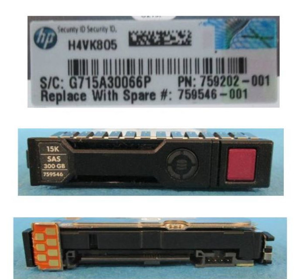 HPE 759202-001-SC 300GB 15000RPM 2.5inch SFF Dual Port SAS-12Gbps Enterprise Hard Drive for ProLiant Gen8 Gen9 Gen10 Servers (Brand New with 3 Years Warranty)