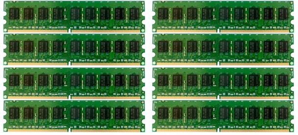 HPE 405478-071 64GB (8x8GB) Dual Rank x4 667MHz ECC Registered CL5 (CAS-5-5-5) PC2-5300 240Pin DIMM DDR2 SDRAM Memory Kit for ProLiant Gen5 Gen6 and Gen7 Servers