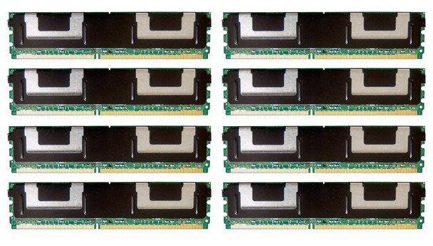 HPE 416474-001 64GB (8x8GB) Dual Rank x4 667MHz ECC Registered CL5 (CAS-5-5-5) PC2-5300 Fully Buffered 240Pin DIMM DDR2 SDRAM Memory Kit for ProLiant Gen1 and Gen5 Servers