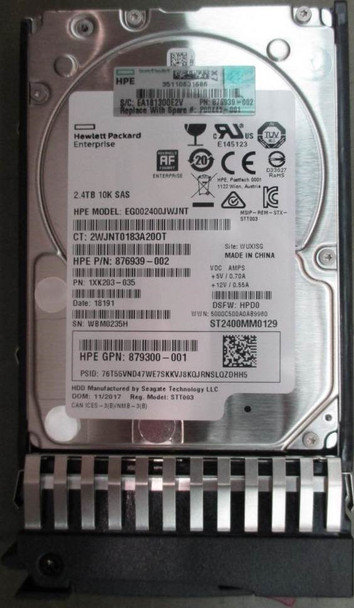 HPE 876939-002 2.4TB 10000RPM 2.5inch SFF 512e Dual Port SAS-12Gbps Enterprise Hard Drive for MSA 1040/2040 SAN Storage (Brand New with 3 Years Warranty)