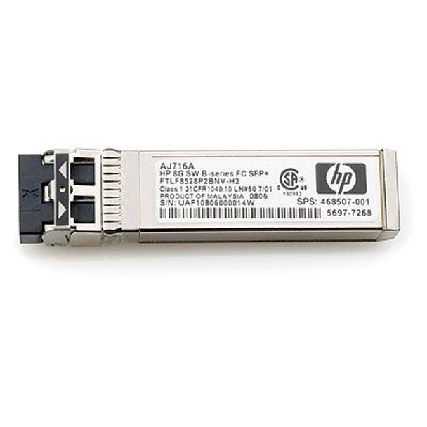 HPE 468507-001 8Gbps Shortwave B-Series Fibre Channel 1 Pack SFP+ Transceiver Module (Grade A with 90 Days Warranty)
