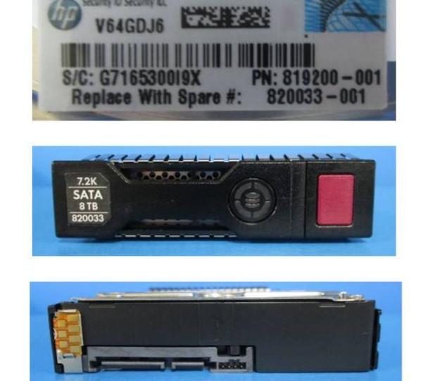 HPE MB8000GFECR-SC 8TB 7200RPM 3.5inch LFF 512e Digitally Signed Firmware SATA-6Gbps SC Midline Hard Drive for ProLiant Gen8 Gen9 Gen10 Servers (New Bulk Pack With 1 Year Warranty)