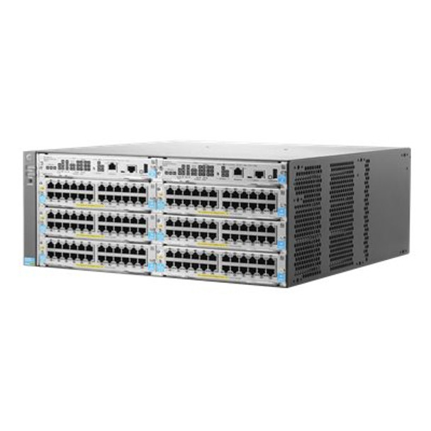 HPE J9821-61001 Aruba 5406R zl2 Power over Ethernet (PoE+) 4U Rack-Mountable 6-Slot Switch Module (Brand New with 3 Years Warranty)