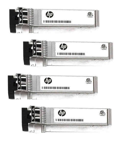 HPE 876144-001 10Gbps Short Range iSCSI SFP+ 4-pack Transceiver Module for Modular Smart Array 2040 SAN Storage (Brand New with 3 Years Warranty)
