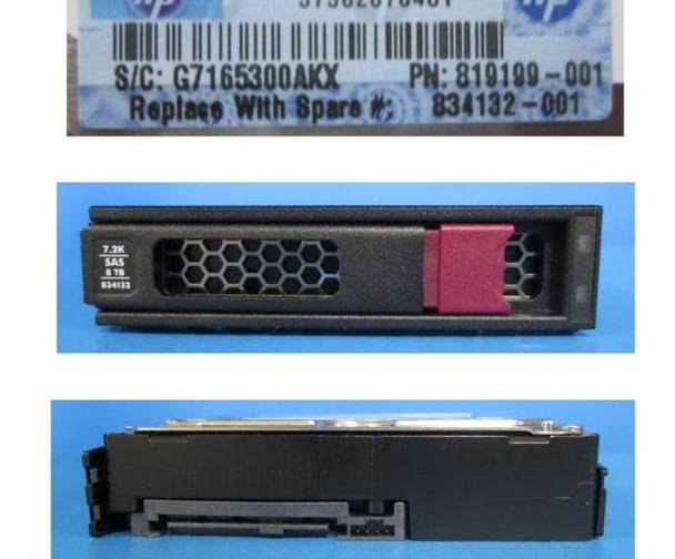 HPE MB8000JFECQ-LP 8TB 7200RPM 3.5inch LFF Digitally Signed Firmware SAS-12Gbps LPC Midline Hard Drive for ProLiant Gen9 Gen10 Servers (New Bulk Pack With 1 Year Warranty)