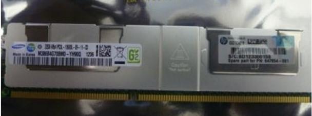 HPE 664693-001 32GB (1x32GB) Quad Rank x4 PC3L-10600 DDR3-1333 LRDIMM CL9 (CAS-9-9-9) LP Memory Kit for ProLiant Gen8 Servers (New Bulk with 1 Year Warranty)