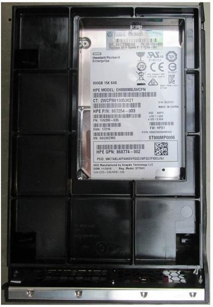 HPE EH000900JWCPN-LPC 900GB 15000RPM 3.5inch LFF Digitally Signed Firmware 512n SAS-12Gbps Enterprise Hard Drive for ProLiant Gen9 Gen10 Servers (Brand New with 3 Years Warranty)