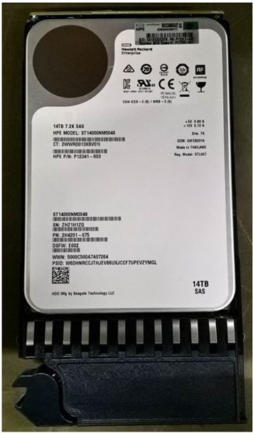 HPE P11785-001 14TB 7200RPM 3.5inch Large Form Factor 512e SAS-12Gbps Midline Hard Drive for Modular Smart Array 2040/2052 LFF SAN Storage (Brand New with 3 Years Warranty)