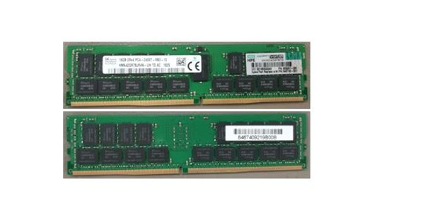 HPE 809081-081 16GB (1x16GB) Dual Rank x4 DDR4 2400MHz CL17 (CAS-17-17-17) ECC Registered 288Pin PC4-19200 RDIMM SDRAM SmartMemory Kit for ProLiant Gen9 Servers (New Bulk Pack with 1 Year Warranty)