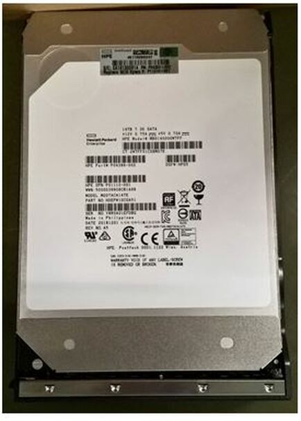 HPE Helium P11518-001 14TB 7200RPM 3.5inch LFF Digitally Signed Firmware (DS) 512e SAS-12Gbps Low Profile (LP) Business Critical Midline Hard Drive for ProLiant Gen9 Gen10 Servers (Brand New with 3 Years Warranty)