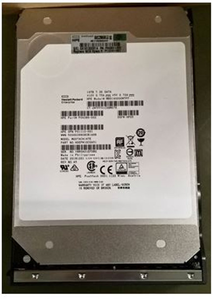 HPE Helium P11519-001 14TB 7200RPM 3.5inch LFF Digitally Signed Firmware (DS) 512e SATA-6Gbps Low Profile (LP) Business Critical Midline Hard Drive for ProLiant Gen9 Gen10 Servers (Brand New with 3 Years Warranty)