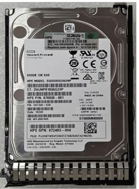 HPE 872483-004 600GB 10000RPM 2.5inch SFF Digitally Signed Firmware SAS-12Gbps SC Enterprise Hard Drive for ProLiant Gen8 Gen9 Gen10 Servers (Brand New with 3 Years Warranty)