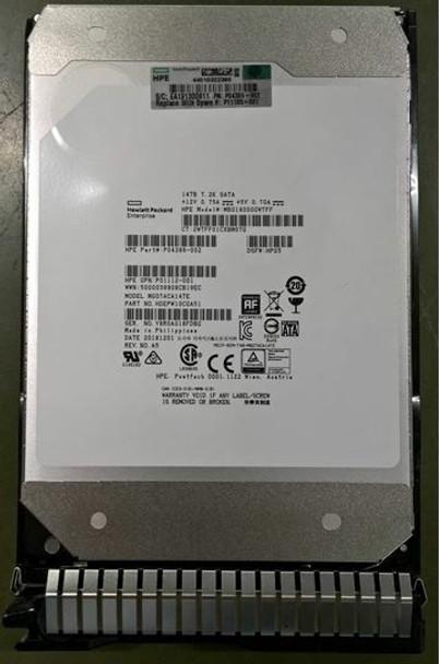 HPE Helium P09163-X21 14TB 7200RPM 3.5inch LFF 512e Digitally Signed Firmware SATA-6Gbps Smart Carrier Midline Hard Drive for ProLiant Gen8 Gen9 Gen10 Servers (Brand New with 3 Years Warranty)