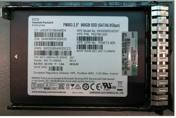 HPE P04564-X21 960GB 2.5inch SFF Digitally Signed Firmware MLC SATA-6Gbps SC Read Intensive Solid State Drive for ProLiant Gen9 Gen10 Servers (Brand New With 3 Years Warranty)