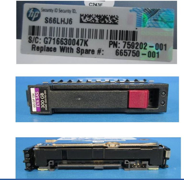 HPE MK3001GRRB 300GB 15000RPM 2.5inch Small Form Factor SAS-6Gbps Hard Drive for EVA P6000 Series and M6625 Disk Enclosures (New Bulk Pack With 1 Year Warranty)