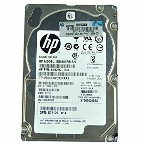 HPE EG000600JWFUR 600GB 10000RPM 2.5inch Small Form Factor Dual Port SAS-6Gbps Hot-Swap Enterprise Hard Drive for ProLiant Generation1 to Generation7 Servers
