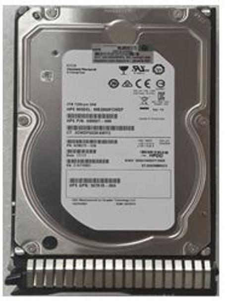 HPE 693672-001-SC 2TB 7200 RPM 3.5inch Large Form Factor Dual Port SAS-6Gbps SC Midline Hard Drive for ProLiant Gen8 Gen9 Gen10 Servers (New Bulk Pack With 1 Year Warranty)