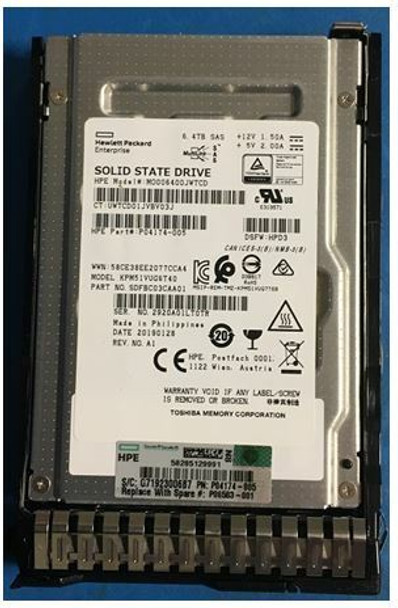 HPE P04539-X21 6.4TB 2.5inch SFF Multi-Level Cell Digitally Signed Firmware (DS) SAS-12Gbps Smart Carrier Mixed Use Solid State Drive for ProLiant Gen8 Gen9 Gen10 Servers (Grade A with Lifetime Warranty)