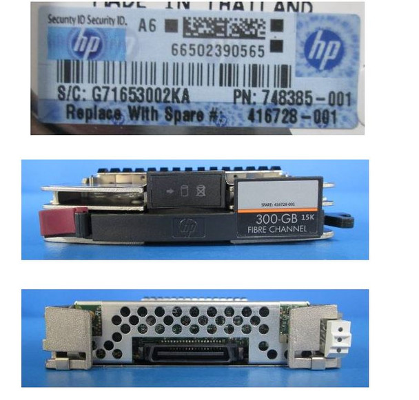 HPE AG719B 300GB 15000RPM 3.5inch LFF Fibre Channel-4Gbps 40 Pins Hot-Swap Internal Hard Drive (Grade A with Lifetime Warranty)