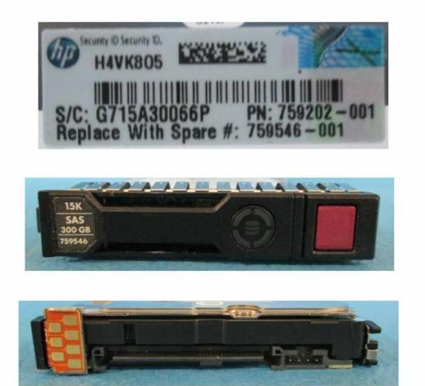 HPE 744995-001-SC 300GB 15000RPM 2.5inch SFF Dual Port SAS-12Gbps SC Enterprise Hard Drive for ProLiant Gen8 Gen9 Gen10 Servers (Grade A with Lifetime Warranty)