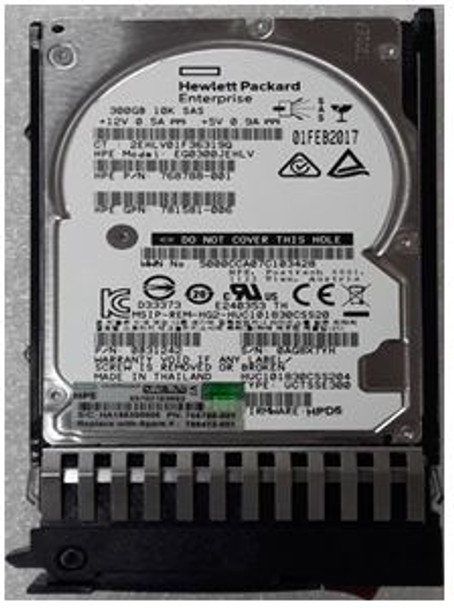 HPE EG000300JWBHR 300GB 10000RPM 2.5inch Small Form Factor Dual Port SAS-12Gbps Enterprise Hard Drive for ProLiant Generation1 to Generation7 Servers (Grade A with Lifetime Warranty)
