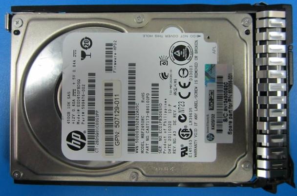 HPE 693569-002-SC 450GB 10000RPM 2.5inch SFF Dual Port SAS-6Gbps Smart Carrier Enterprise Hard Drive for ProLiant Gen8 Gen9 Servers (New Bulk Pack with 1 Year Warranty)