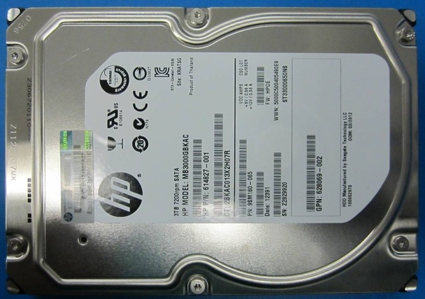 HPE MB3000GDUPA 3TB 7200RPM 3.5inch LFF SATA-6Gbps Midline Hard Drive for ProLiant Gen8 Gen9 Gen10 Servers (New Bulk pack with 1 Year Warranty)