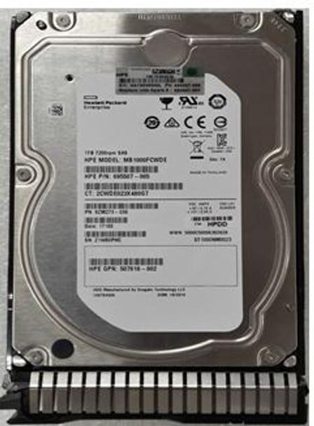 HPE 507613-001-SC 1TB 7200RPM 3.5inch LFF SAS-6Gbps Smart Carrier Enterprise Hard Drive for ProLiant Gen8 Gen9 Server (Brand New with 3 Years Warranty)