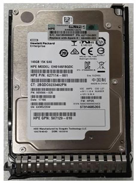 HPE 507129-010-SC 146GB 15000RPM 2.5inch SFF SAS-6Gbps Smart Carrier Hot-Swap Internal Enterprise Hard Drive for ProLiant Gen8 Gen9 Gen10 Servers (Grade A with Lifetime Warranty)