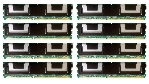 HPE 398709-071 64GB (8x8GB) Dual Rank x4 667MHz ECC Registered CL5 (CAS-5-5-5) PC2-5300 Fully Buffered 240Pin DIMM DDR2 SDRAM Memory Kit for ProLiant Gen1 and Gen5 Servers (New Bulk Pack with 1 Year Warranty)